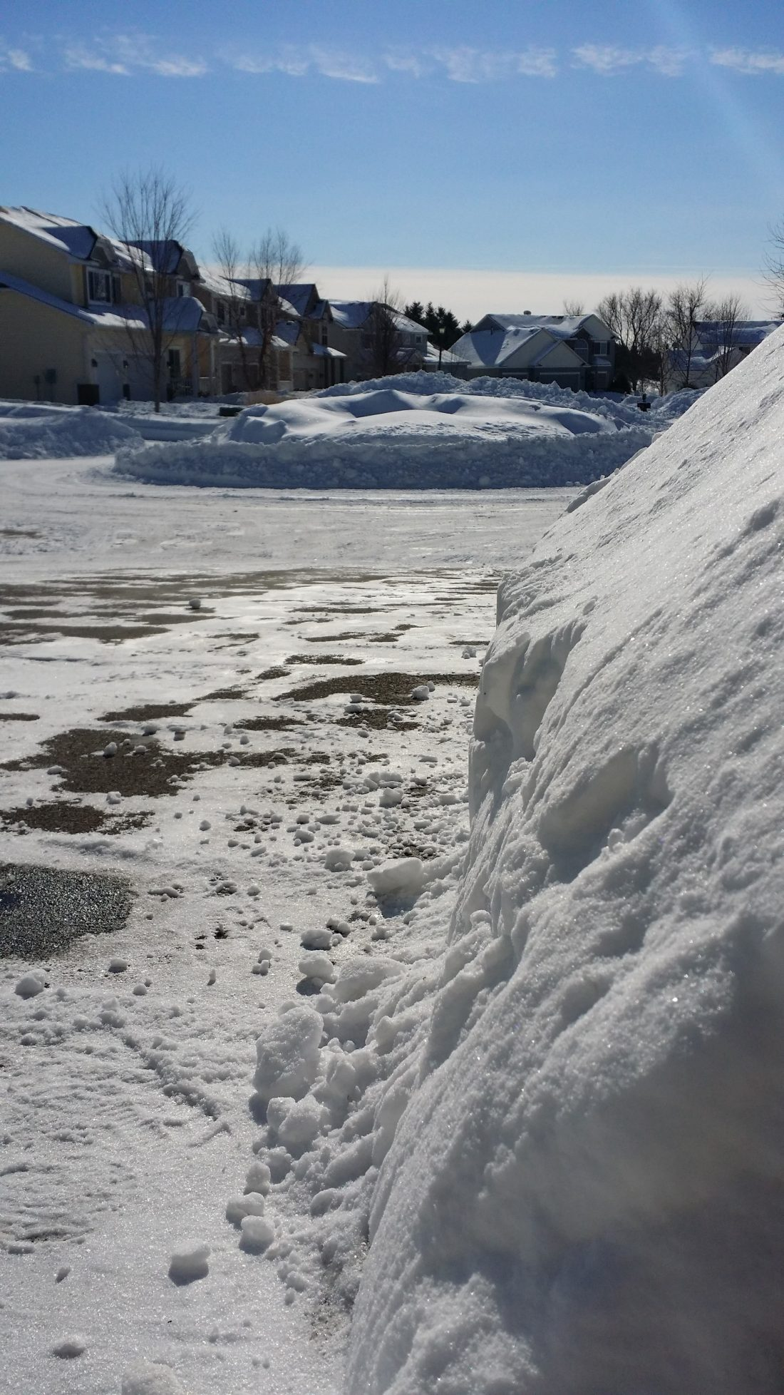 A lot of snow in our front yard.