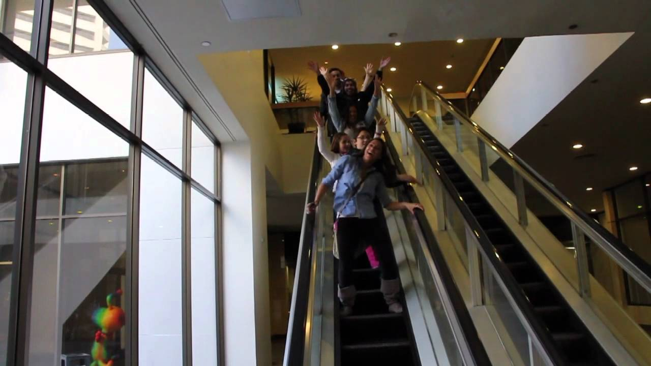 Our Remake of the Infamous Escalator Scene in Sears